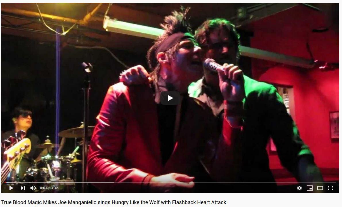 Joe Manganiello sings with 80s cover band Flashback Heart Attack